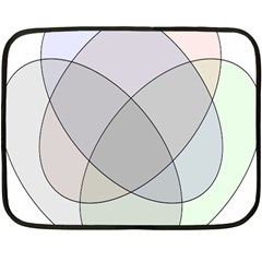 Four Way Venn Diagram Circle Fleece Blanket (mini) by Mariart