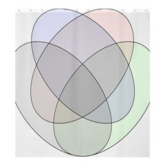 Four Way Venn Diagram Circle Shower Curtain 66  X 72  (large)  by Mariart