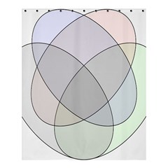 Four Way Venn Diagram Circle Shower Curtain 60  X 72  (medium)  by Mariart