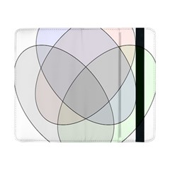 Four Way Venn Diagram Circle Samsung Galaxy Tab Pro 8 4  Flip Case by Mariart