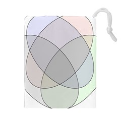 Four Way Venn Diagram Circle Drawstring Pouches (extra Large) by Mariart