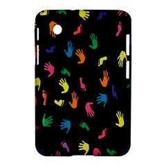 Hand And Footprints Samsung Galaxy Tab 2 (7 ) P3100 Hardshell Case  by Mariart