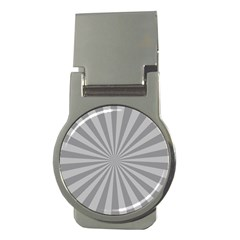 Grey Starburst Line Light Money Clips (round)  by Mariart