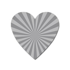 Grey Starburst Line Light Heart Magnet by Mariart