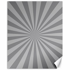 Grey Starburst Line Light Canvas 16  X 20   by Mariart