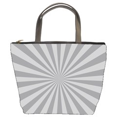 Grey Starburst Line Light Bucket Bags by Mariart