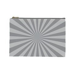 Grey Starburst Line Light Cosmetic Bag (large)  by Mariart