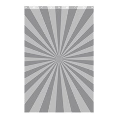 Grey Starburst Line Light Shower Curtain 48  X 72  (small)  by Mariart