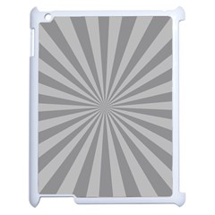Grey Starburst Line Light Apple Ipad 2 Case (white) by Mariart