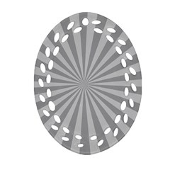 Grey Starburst Line Light Ornament (oval Filigree) by Mariart