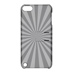 Grey Starburst Line Light Apple Ipod Touch 5 Hardshell Case With Stand by Mariart