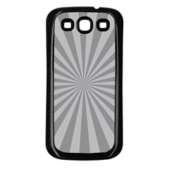 Grey Starburst Line Light Samsung Galaxy S3 Back Case (black) by Mariart