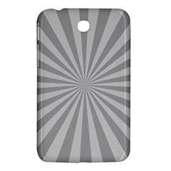 Grey Starburst Line Light Samsung Galaxy Tab 3 (7 ) P3200 Hardshell Case  by Mariart