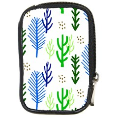 Forest Green Drop Blue Brown Polka Circle Compact Camera Cases by Mariart