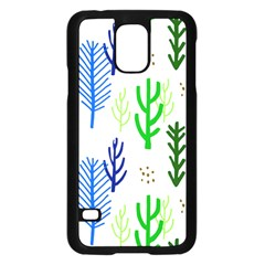 Forest Green Drop Blue Brown Polka Circle Samsung Galaxy S5 Case (black) by Mariart
