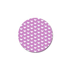 Heart Love Valentine White Purple Card Golf Ball Marker (4 Pack) by Mariart