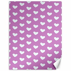 Heart Love Valentine White Purple Card Canvas 12  X 16   by Mariart