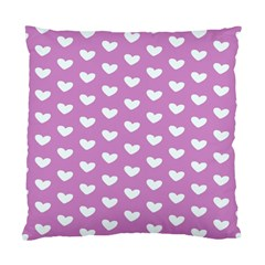Heart Love Valentine White Purple Card Standard Cushion Case (two Sides) by Mariart