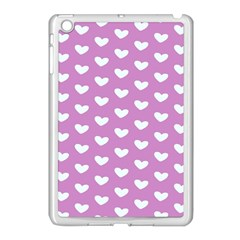 Heart Love Valentine White Purple Card Apple Ipad Mini Case (white) by Mariart