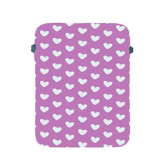Heart Love Valentine White Purple Card Apple Ipad 2/3/4 Protective Soft Cases by Mariart