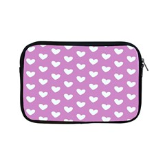 Heart Love Valentine White Purple Card Apple Ipad Mini Zipper Cases by Mariart