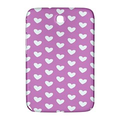 Heart Love Valentine White Purple Card Samsung Galaxy Note 8 0 N5100 Hardshell Case  by Mariart