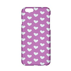 Heart Love Valentine White Purple Card Apple Iphone 6/6s Hardshell Case by Mariart