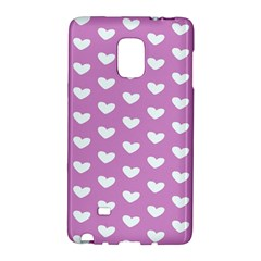 Heart Love Valentine White Purple Card Galaxy Note Edge by Mariart