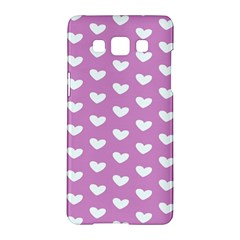 Heart Love Valentine White Purple Card Samsung Galaxy A5 Hardshell Case  by Mariart