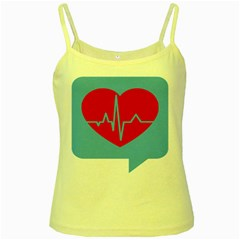 Heartbeat Health Heart Sign Red Blue Yellow Spaghetti Tank by Mariart