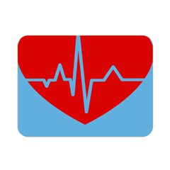 Heartbeat Health Heart Sign Red Blue Double Sided Flano Blanket (mini)  by Mariart