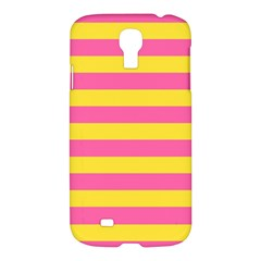 Horizontal Pink Yellow Line Samsung Galaxy S4 I9500/i9505 Hardshell Case by Mariart