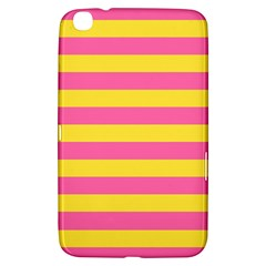Horizontal Pink Yellow Line Samsung Galaxy Tab 3 (8 ) T3100 Hardshell Case  by Mariart