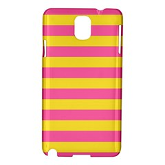 Horizontal Pink Yellow Line Samsung Galaxy Note 3 N9005 Hardshell Case by Mariart