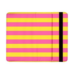 Horizontal Pink Yellow Line Samsung Galaxy Tab Pro 8 4  Flip Case by Mariart