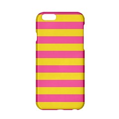 Horizontal Pink Yellow Line Apple Iphone 6/6s Hardshell Case by Mariart