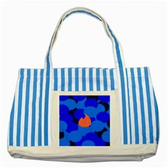 Image Orange Blue Sign Black Spot Polka Striped Blue Tote Bag by Mariart