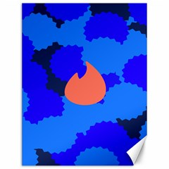 Image Orange Blue Sign Black Spot Polka Canvas 12  X 16   by Mariart