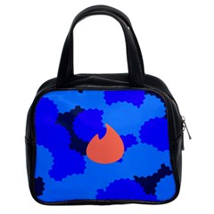 Image Orange Blue Sign Black Spot Polka Classic Handbags (2 Sides) by Mariart