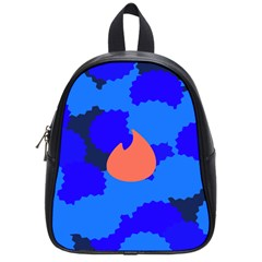Image Orange Blue Sign Black Spot Polka School Bags (small)  by Mariart