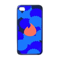 Image Orange Blue Sign Black Spot Polka Apple Iphone 4 Case (black) by Mariart