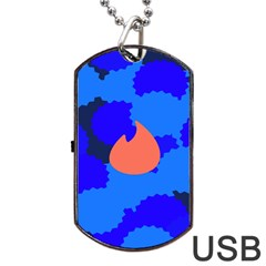 Image Orange Blue Sign Black Spot Polka Dog Tag Usb Flash (two Sides) by Mariart