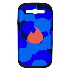 Image Orange Blue Sign Black Spot Polka Samsung Galaxy S Iii Hardshell Case (pc+silicone) by Mariart