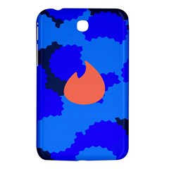 Image Orange Blue Sign Black Spot Polka Samsung Galaxy Tab 3 (7 ) P3200 Hardshell Case  by Mariart