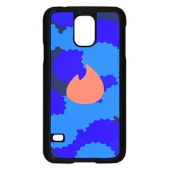 Image Orange Blue Sign Black Spot Polka Samsung Galaxy S5 Case (black) by Mariart