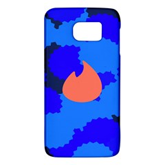Image Orange Blue Sign Black Spot Polka Galaxy S6 by Mariart