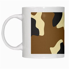 Initial Camouflage Camo Netting Brown Black White Mugs by Mariart