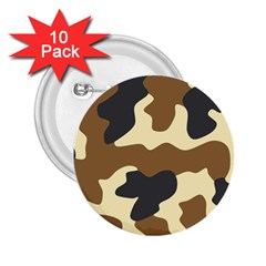 Initial Camouflage Camo Netting Brown Black 2 25  Buttons (10 Pack)