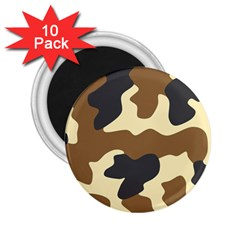 Initial Camouflage Camo Netting Brown Black 2 25  Magnets (10 Pack)  by Mariart