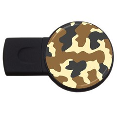 Initial Camouflage Camo Netting Brown Black Usb Flash Drive Round (2 Gb)